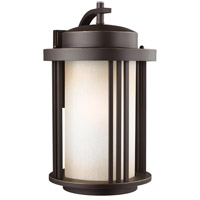Sea Gull 8847901DEN3-71 Crowell 1 Light 20 inch Antique Bronze Outdoor Wall Lantern