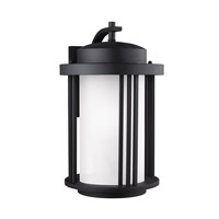 Sea Gull 8847901EN3-12 Crowell 1 Light 20 inch Black Outdoor Wall Lantern