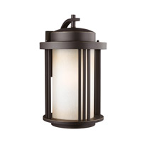 Sea Gull 8847901EN3-71 Crowell 1 Light 20 inch Antique Bronze Outdoor Wall Lantern