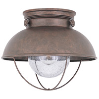 Sea Gull Lighting Sebring 1 Light Outdoor Ceiling Lantern in Weathered Copper 8869-44