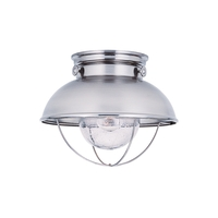 Sea Gull Sebring Outdoor Flush Mount in Brushed Stainless 886991S-98