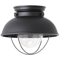 Sea Gull 886993S-12 Sebring LED 11 inch Black Outdoor Flush Mount