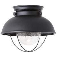 Sea Gull 886993S-12 Sebring LED 11 inch Black Outdoor Flush Mount