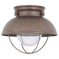Sea Gull 886993S-44 Sebring LED 11 inch Weathered Copper Outdoor Flush Mount photo thumbnail