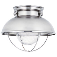 Sebring LED 11 inch Brushed Stainless Outdoor Flush Mount