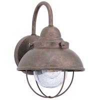 Sea Gull 887091S-44 Sebring 11 inch Weathered Copper Outdoor Wall Lantern