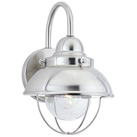 Sea Gull 8870-98 Sebring 1 Light 11 inch Brushed Stainless Outdoor Wall Lantern