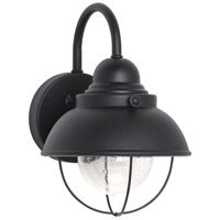 Sea Gull 887093S-12 Sebring LED 11 inch Black Outdoor Wall Lantern