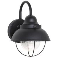 Sea Gull 887093S-12 Sebring LED 11 inch Black Outdoor Wall Lantern