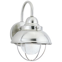 Sea Gull 887093S-98 Sebring LED 11 inch Brushed Stainless Outdoor Wall Lantern photo thumbnail