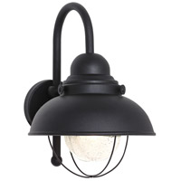 Sea Gull Lighting Sebring 1 Light Outdoor Wall Lantern in Black 8871-12