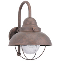 Sea Gull 8871-44 Sebring 1 Light 16 inch Weathered Copper Outdoor Wall Lantern photo thumbnail