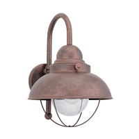 Sea Gull 887191S-44 Sebring 16 inch Weathered Copper Outdoor Wall Lantern