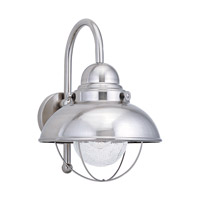 Sea Gull Sebring Outdoor Wall Lantern in Brushed Stainless 887191S-98