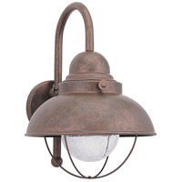 Sea Gull 887193S-44 Sebring LED 16 inch Weathered Copper Outdoor Wall Lantern
