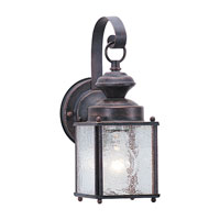 Sea Gull Lighting Jamestowne 1 Light Outdoor Wall Lantern in Textured Rust Patina 8880-08