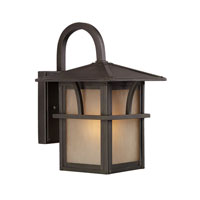 Sea Gull Lighting Medford Lakes 1 Light Outdoor Wall Lantern in Statuary Bronze 88880BLE-51