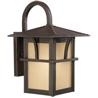 Sea Gull Lighting Medford Lakes 1 Light Outdoor Wall Lantern in Statuary Bronze 88881-51