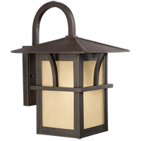 Sea Gull Lighting Medford Lakes 1 Light Outdoor Wall Lantern in Statuary Bronze 88882-51