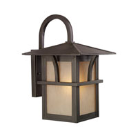 Sea Gull Lighting Medford Lakes 1 Light Outdoor Wall Lantern in Statuary Bronze 88882BLE-51