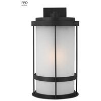Sea Gull 8890901-12 Wilburn 1 Light 24 inch Black Outdoor Wall Lantern