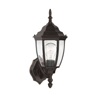 Sea Gull 88940-782 Bakersville 1 Light 15 inch Heirloom Bronze Outdoor Wall Lantern in Clear Curved Beveled Glass, Standard photo thumbnail