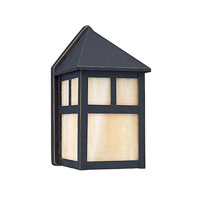 Sea Gull Lighting Prairie Statement 1 Light Outdoor Wall Lantern in Antique Bronze 89015BLE-71