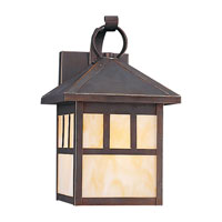 Sea Gull Lighting Prairie Statement 1 Light Outdoor Wall Lantern in Antique Bronze 89016BL-71