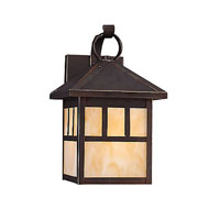 Sea Gull 89016BLE-71 Prairie Statement 1 Light 12 inch Antique Bronze Outdoor Wall Lantern in No Photocell, Energy Efficient photo thumbnail
