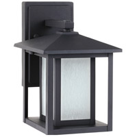 Seagull Hunnington 1 Light Outdoor Wall Lantern in Black 89029BLE-12