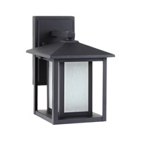 Sea Gull 89029EN3-12 Hunnington 1 Light 11 inch Black Outdoor Wall Lantern