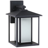Sea Gull Hunnington 1 Light Outdoor Wall Lantern in Black 89031BLE-12