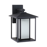 Sea Gull 89031EN3-12 Hunnington 1 Light 14 inch Black Outdoor Wall Lantern