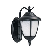Sea Gull 89049BLE-12 Yorktowne 1 Light 13 inch Black Outdoor Wall Lantern in No Photocell, Energy Efficient photo thumbnail