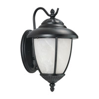 Sea Gull 89049PBLE-12 Yorktowne 1 Light 13 inch Black Outdoor Wall Lantern in Photocell, Energy Efficient photo thumbnail