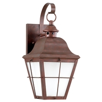 Chatham 1 Light 15 inch Weathered Copper Outdoor Wall Lantern in No Photocell, Energy Efficient