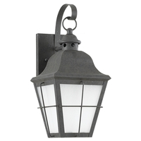 Sea Gull 89062BLE-46 Chatham 1 Light 15 inch Oxidized Bronze Outdoor Wall Lantern in No Photocell, Energy Efficient photo thumbnail