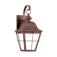 Sea Gull 89062EN3-44 Chatham 1 Light 15 inch Weathered Copper Outdoor Wall Lantern