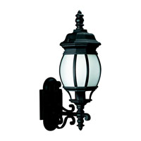 Sea Gull Lighting Wynfield 1 Light Outdoor Wall Lantern in Black 89102BLE-12
