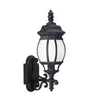 Sea Gull 89102EN3-12 Wynfield 1 Light 20 inch Black Outdoor Wall Lantern