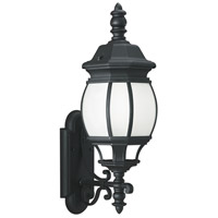 Sea Gull 89103BLE-12 Wynfield 1 Light 24 inch Black Outdoor Wall Lantern photo thumbnail