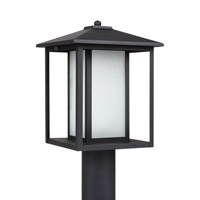 Sea Gull 89129-12 Hunnington 1 Light 15 inch Black Outdoor Post Lantern