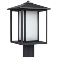 Sea Gull 89129BL-12 Hunnington 1 Light 15 inch Black Outdoor Post Lantern photo thumbnail