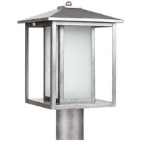 Hunnington 1 Light 15 inch Weathered Pewter Outdoor Post Lantern