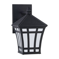 Herrington 1 Light 10 inch Black Outdoor Wall Lantern in No Photocell