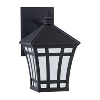 Sea Gull Lighting Herrington 1 Light Outdoor Wall Lantern in Black 89131PBLE-12 photo thumbnail