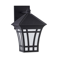 Herrington 1 Light 12 inch Black Outdoor Wall Lantern
