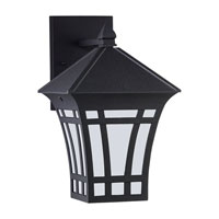 Herrington 1 Light 12 inch Black Outdoor Wall Lantern in No Photocell