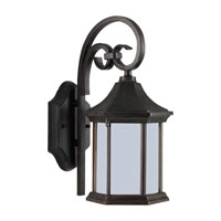 Sea Gull Lighting Ardsley Court 1 Light Outdoor Wall Lantern in Textured Rust Patina 89136BLE-08 photo thumbnail
