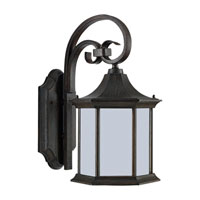 Sea Gull Lighting Ardsley Court 1 Light Outdoor Wall Lantern in Textured Rust Patina 89137BLE-08
